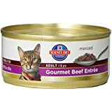 Hill's Science Diet Adult Optimal Care Gourmet Beef Entree Minced Cat Food, 5.5-Ounce Can, 24-Pack