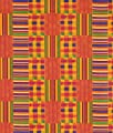 African Kente Print - Golden Squares Fabric - by the Yard