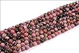 Sweet & Happy Girl'S Store 6Mm Round Rhodonite Gemstone Beads Strand 15