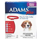 "Adams Plus Flea & Tick Collar for Small Dogs, 15"", Red"