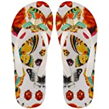 Womens Miss Trish Butterfly White Multi Flip Flops