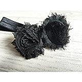 Negro, revestimientos de pelo para bebés y niños doble rosa de tela