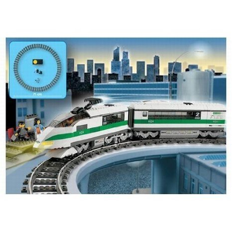 LEGO ( LEGO ) Trains: High Speed ??Train Set block toys ( parallel imports )