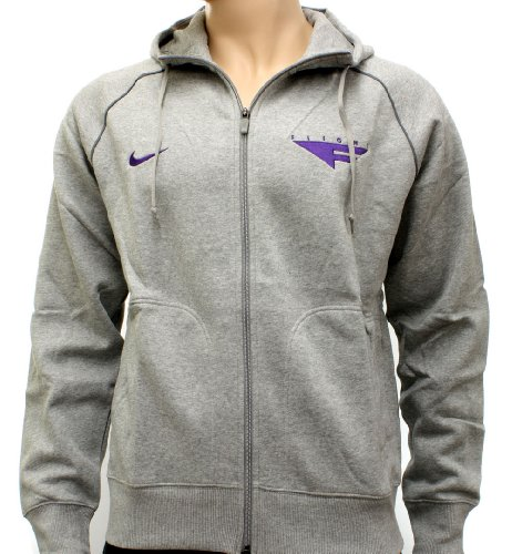 Nike Flight Mens Grey/Purple Basketball Hooded Sweatshirt Hoody 2XL