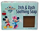 All Terrain Mickey and Minnie Mouse Natural Itch and Rash Soothing Soap, 4-Ounce