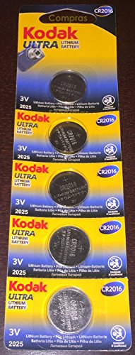 Kodak Ultra 5 pile CR2016, di alta qualità e a lunga durata-boton batterie al litio 3 V CR 2016 comandi per orologi, migliori di duracell maxell panasonic energizer-venduto da acquisti in solido