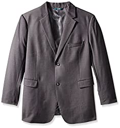 Perry Ellis Men's Big and Tall Solid Jacket, Charcoal Heather, 52 Regular