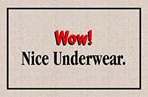 "Wow! Nice Underwear (Natural/Black/Red) (18""D x 27""W)"