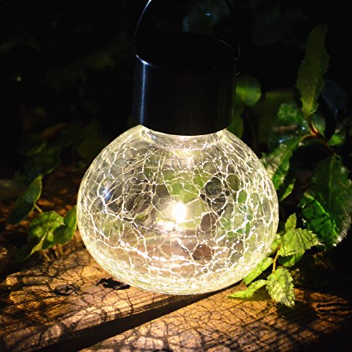 2PACK Solar Glass Jar With Hanger Solar Light Solar Pathway Light Set