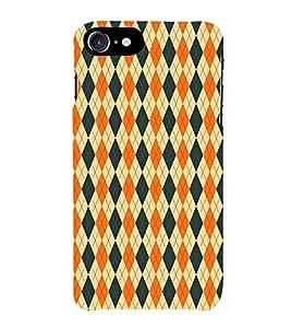 HiFi Designer Phone Back Case Cover Apple iPhone 7 :: Apple iPhone7 ( Orange and Blue White Pattern Design )