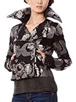 Custo Chaqueta Apple Flower (Negro / Plateado)