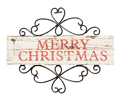 Your Hearts Delight Merry Christmas Sign Decor, 15-3/4 by 12-1/2-Inch