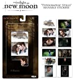 """Twilight Saga New Moon 4 Sheets """"Removable & Reusable Stickers"""" Edward Cullen and Bella Swan"""