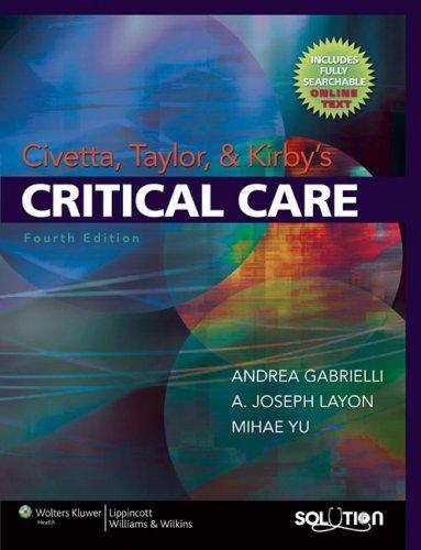 Civetta, Taylor and Kirby's Critical Care (Critical Care (Civetta))
