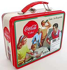 Coca-Cola Classic Licensed Coke Soda Hospitality Retro Themed Metal Tin Lunchbox For Children