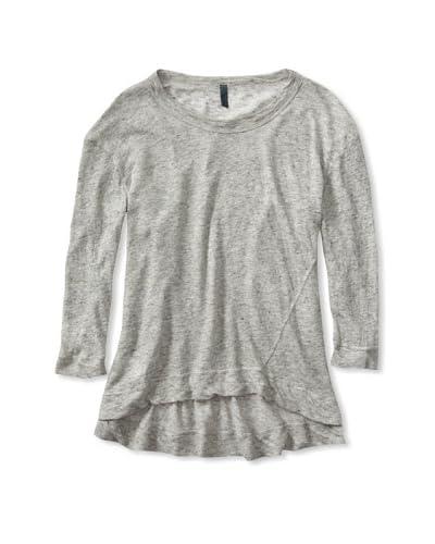Left of Center Women's Shrunken Sweatshirt  - Grey Heather