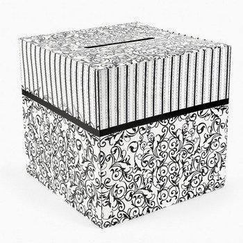Black and White Wedding Card Box 12″ X 12″
