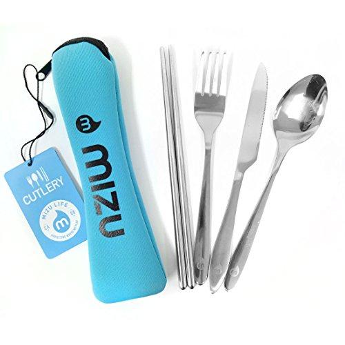 (ミズ) MIZU カトラリーセット cutleryset カトラリー カトラリーケース付き 箸 スプーン フォーク ナイフ セット ステンレス お弁当 キャンプ アウトドア かっこいい