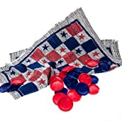 Red, White & Blue Checker Rug