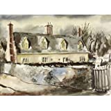 Tudor Cottages, Little Waldingfield, Suffolk, by Rowland Suddaby (Print On Demand)