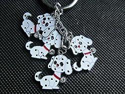 Cute 4 piece dogs, puppy, Disney's 101 Dalmatians keyring charm gift idea - by Fat-catz-copy-catz