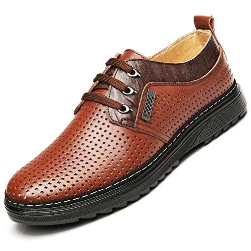 Cool scarpe/Scarpe uomo/Scarpa casual estate/Business cuoio sandali dimensione gioventù/Taglio scarpa traspirante lampeggia-B Lunghezza piede=23.8CM(9.4Inch)