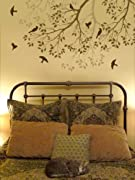 Wall Stencil Spring Songbirds - Reusable stencils better than decals - DIY decor