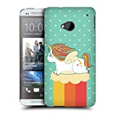 Head Case Designs Summer Fancy Unicorns Chubby Collection Protective Snap-on Hard Back Case Cover for HTC One