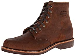Original Chippewa Collection Men\'s 1901M84 6 Inch Service Utility Boot, Brown Bomber Distressed, 13 D US