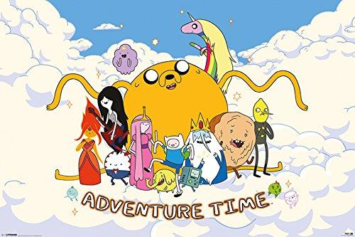 GB occhio manifesto, 61 x 91,5 cm, taglia XXL Poster, Scena Adventure Time nuvola
