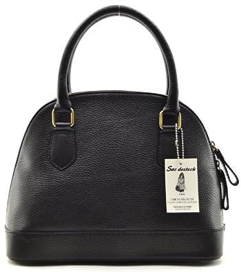 """SAC-DESTOCK - Sac à Main CUIR """"Grainé"""" - Réf: BUGATTI / Nouvelle Collection / Promotion / Handbag Leather (NOIR)"""