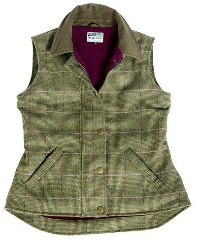 Hoggs of Fife Isla Tweed Ladies Waterproof Waistcoat Size 14
