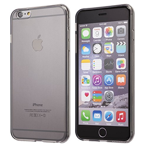 iPhone 6S Plus case, Totallee Revealer, Flexible Soft Slim Jelly Transparent TPU Cover for iPhone 6 Plus and 6S Plus (Grey) (Iphone 6 Soft Jelly compare prices)
