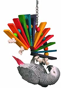 Super Bird Creations 14 by 11-Inch Peacock Sr. Bird Toy, Large