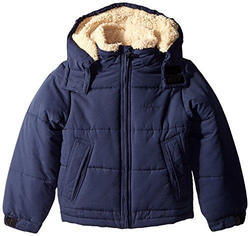 London Fog Big Boys' Classic Puffer Coat, Navy Solid, 14/16