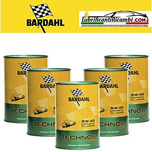 OLIO-motore-auto-Bardahl-TECHNOS-c60-5W-40-totalmente-sintetico-Offerta-5-litri