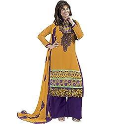 Meghali Women's Cotton Unstitched Salwar Suit (MGHR2D12_Orange_Free Size)