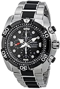 Buy Seiko Mens SNDA59 Black Dial Velatura Watch by Seiko