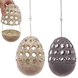 Hanging Metal Fretwork Egg Tealight Holder