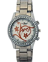 COSMIC FOREST STONE STUDDED WOMEN WATCH - S.S