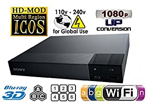 Sony Bdp-s6500 2k/4k Upscaling 2d/3d Built-in Wi-fi Region Free 0-8 And All Zone A,b,c Bluray Player With Worldwide Use And Come With Free Hdmi Cable. by Sony