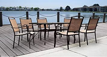Quality Patio Furniture Set Mainstays Sand Dune 7-piece Patio Dining Set, Seats 6 a Great Outdoor Cheap Patio Chair Set Outdoor New Dinning Set Cheap.