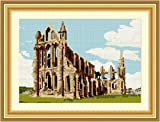 Brigantia Needlework Whitby Abbey Tapestry Picture Kit in Tent Stitch
