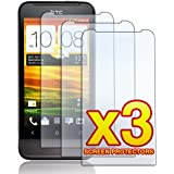 HTC One V - THREE (3) Premium Ultra Clear, Smooth Touch LCD Screen Protector Film (with Cleaning Cloth) [AccessoryOne Brand]