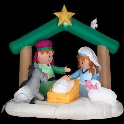 GEMMY AIRBLOWN INFLATABLE NATIVITY SCENE 6 FT