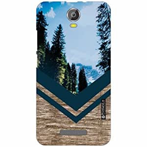 Micromax Canvas Juice 2 Back Cover - Silicon Wood Designer Cases