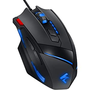 852108b7364 Gaming Mouse Wired Programmable 7 Buttons - Hcman [Upgraded Version] Led  Backlit & 5 DPI Mode,Comfortable ...
