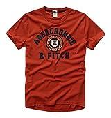 Abercrombie & Fitch Mens Short Sleeve Designer Cotton T Shirt Orange Medium