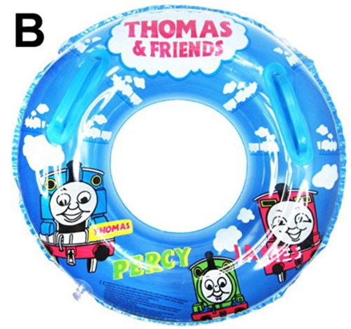 Summer Inflatable Thomas Friends Baby Kid Toddler Newborn Infant Child Boy Girl Swim Swimming Pool Boat Ring Raft Float Tube Seat Safety Aid Trainer (B)