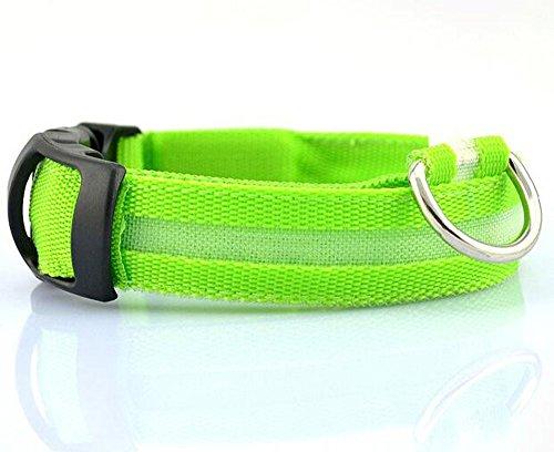 Artikelbild: nniuk Nylon Sicherheit Halsband für Hunde, blinkende LED-Lichter bis das Halsband Hund Pet Nacht Sicherheit Halsband 5Farben